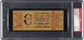Football Collectibles:Tickets, 1946 NFL Championship Game Bears Vs. Giants Full Ticket PSA Authentic....