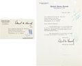 Autographs:Statesmen, Senator Edward Kennedy Typed Letter Signed and Senate AddressLabel....