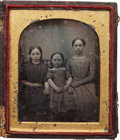 Photography:Daguerreotypes, Early Photography: Three Sisters Daguerreotype....