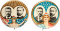 Political:Pinback Buttons (1896-present), Roosevelt & Fairbanks: Pair of Lady Liberty Jugates.... (Total: 2 Items)