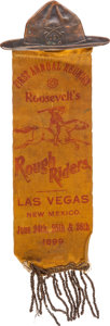 Political:Ribbons & Badges, Theodore Roosevelt: 1899 New Mexico Rough Riders Reunion Badge....
