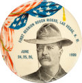 Political:Pinback Buttons (1896-present), Theodore Roosevelt: Large 1899 Rough Riders Reunion Button....