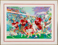 """Football Collectibles:Others, 1985 Leroy Neiman Signed San Francisco 49ers vs. Miami Dolphins """"Post Season Classic"""" Serigraph Artist's Proof...."""