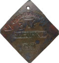 Antiques:Black Americana, 1821 Charleston SERVANT Slave Hire Badge, Number 318....