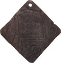 Antiques:Black Americana, 1838 Charleston SERVANT Slave Hire Badge, NGC Certified Genuine,Number 1273. ...