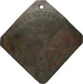 Antiques:Black Americana, 1845 Charleston PORTER Slave Hire Badge, Number 171. ...