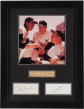 Baseball Collectibles:Photos, Circa 1985 Mickey Mantle, Whitey Ford & Billy Martin Signed Cuts Display....