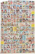 Baseball Cards:Sets, 1967 Topps Baseball First Series Uncut Sheet With 132 Cards. ...