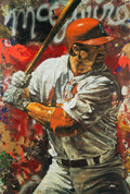 Baseball Collectibles:Others, Late 1990's Mark McGwire Giclee Canvas Art by Stephen Holland....