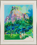 "Golf Collectibles:Art, 1985 Leroy Neiman Signed ""International Foursome"" GolfSerigraph...."