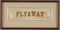 Baseball Collectibles:Others, Circa 1860 Flyaway Baseball Team Silk Ribbon....