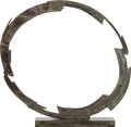 Post-War & Contemporary:Sculpture, BRUNO ROMEDA (Italian, b. 1933). Circle, 1987. Bronze. 31inches (78.7 cm) high x 31 inches (78.7 cm) diameter. AP. Sign...