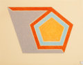 Prints:Contemporary, FRANK STELLA (American, b. 1936). Ossipee, 1974. Lithographand screenprint in colors on Arches paper. 17-1/4 x 22-1/4 i...