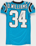 Football Collectibles:Uniforms, 2006 DeAngelo Williams Game Worn, Unwashed and Signed Carolina Panthers Jersey - Worn 11/19 Vs. St. Louis....