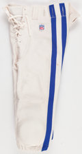 Football Collectibles:Others, 2001 Edgerrin James Game Worn Indianapolis Colts Pants...