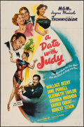 """Movie Posters:Comedy, A Date with Judy (MGM, 1948). One Sheet (27"""" X 41""""). Comedy.. ..."""