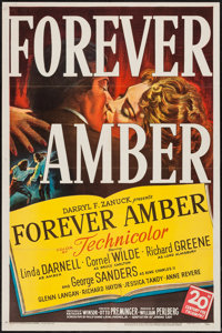 "Forever Amber (20th Century Fox, 1947). One Sheet (27"" X 41""). Drama"
