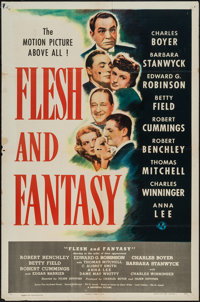 "Flesh and Fantasy (Universal, 1943). One Sheet (27"" X 41""). Drama"