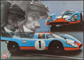 "Movie Posters:Sports, Gulf-Porsche 917 (1970s). German A1 (23.5"" X 33.25"") DS. Sports. As Seen in Le Mans.. ..."