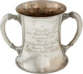 Golf Collectibles:Miscellaneous, 1898 Sterling Silver Two-Handled Trophy....