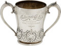 Golf Collectibles:Miscellaneous, 1900 Elaborate Calumet Club Two-Handled Sterling Silver Golf Trophy....