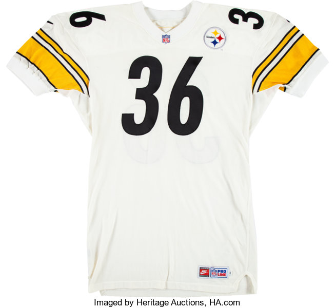 best cheap b58e4 118bf 1997 Jerome Bettis Game Issued Pittsburgh Steelers Jersey ...
