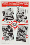 Movie Posters:War, Submarine Seahawk/Paratroop Command/Suicide Battalion/TankBattalion Combo & Others Lot (American International, 1961).One ... (Total: 5 Items)