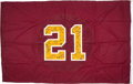 Football Collectibles:Others, 2008 Sean Taylor Memorial Washington Redskins Game Used & Team Signed Flag....