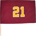 Football Collectibles:Others, 2008 Sean Taylor Washington Redskins Memorial Flag Game Used & Signed by Clinton Portis....