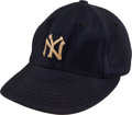 Baseball Collectibles:Hats, 1948-50 Gus Niarhos Game Worn New York Yankees Cap. ...