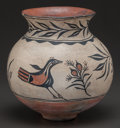 American Indian Art:Pottery, A SANTO DOMINGO POLYCHROME JAR. c. 1910...