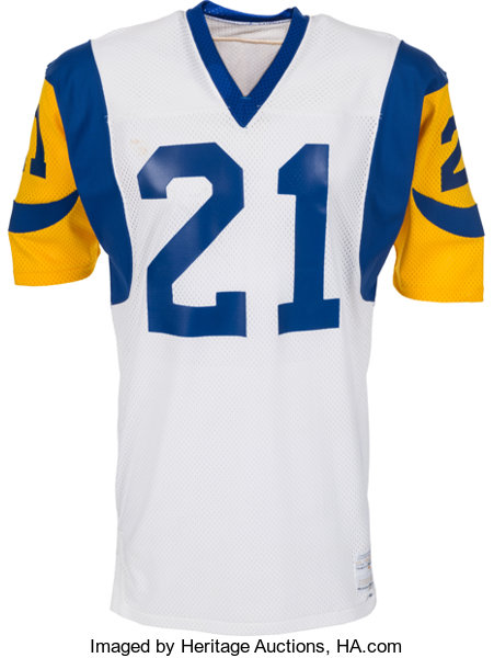 sale retailer 2f3fb 65c05 1977-79 Nolan Cromwell Game Issued Los Angeles Rams Jersey ...