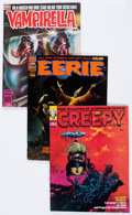 Magazines:Horror, Warren Horror Magazines Group (Warren, 1970s) Condition: Average VF.... (Total: 18 Comic Books)