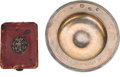 Golf Collectibles:Miscellaneous, Early 1900's Ladies Scorecard Holder & Sterling Ashtray....