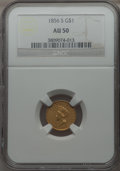 Gold Dollars, 1856-S/S G$1 Type Two FS-501 AU50 NGC....