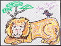Mainstream Illustration, Jorge Garcia. Doodle for Hunger. Crayon on paper. 9 x 12in.. ...