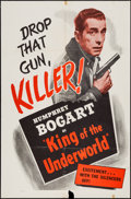 "Movie Posters:Crime, King of the Underworld (Warner Brothers, R-1956). One Sheet (27"" X41"") & Lobby Card Set of 4 (11"" X 14""). Crime.. ... (Total: 5Items)"