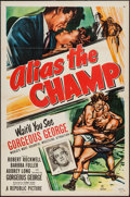 "Movie Posters:Sports, Alias the Champ (Republic, 1949). One Sheet (27"" X 41"") Flat Folded. Sports.. ..."