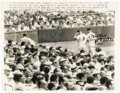 Autographs:Photos, 1961 Mickey Mantle & Roger Maris Signed Wire Photograph. While the autographs date from years after the home run chase that...