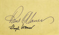 Autographs:Index Cards, Circa 1960 Paul & Lloyd Waner Signed Index Card. Big Poison and Little Poison apply their 10/10 ink signatures to this blan...