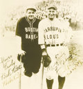 Autographs:Photos, 1927 Babe Ruth & Lou Gehrig Signed Barnstorming Photograph. Those experienced in the baseball autograph collecting hobby ha...