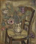 Fine Art - Painting, European:Contemporary   (1950 to present)  , SEI KOYANAGUI (Japanese 1896-1996). Still Life with Flowers. Oil on canvas. 28-1/2 x 23-1/2 inches (72.4 x 59.7 cm)...