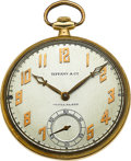 Timepieces:Pocket (post 1900), Patek Philippe & Co. Gold Watch For Tiffany & Co.. ...