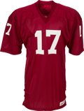 Football Collectibles:Uniforms, 1977-78 Jim Hart Game Issued St. Louis Cardinals Jersey. ...
