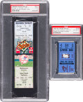 Baseball Collectibles:Tickets, 1982-98 Cal Ripken, Jr. First Game of Streak Ticket Stub & LastGame of Streak Full Ticket....