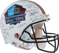 Football Collectibles:Helmets, Pro Football Hall of Famers Multi Signed Authentic Helmet....