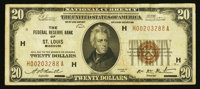 Fr. 1870-H $20 1929 Federal Reserve Bank Note. Very Fine