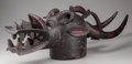 Tribal Art, SENUFO HELMET MASK FOR PORO ASSOCIATION . (COTE D'IVOIRE, WESTERNAFRICA). ...