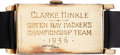 Football Collectibles:Others, 1936 Green Bay Packers NFL Championship Gold Watch Presented to Hall of Famer Clarke Hinkle....