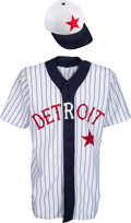 Baseball Collectibles:Uniforms, 2010 Max Scherzer Game Worn Detroit Tigers Turn Back the Clock Jersey & Cap. ...